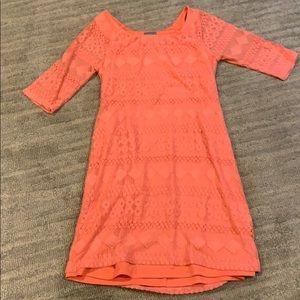 Rabbit rabbit rabbit coral lace dress M